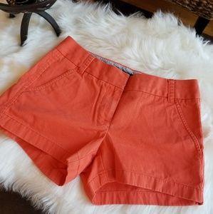 J. Crew CHINO Shorts - Orange - Size 00